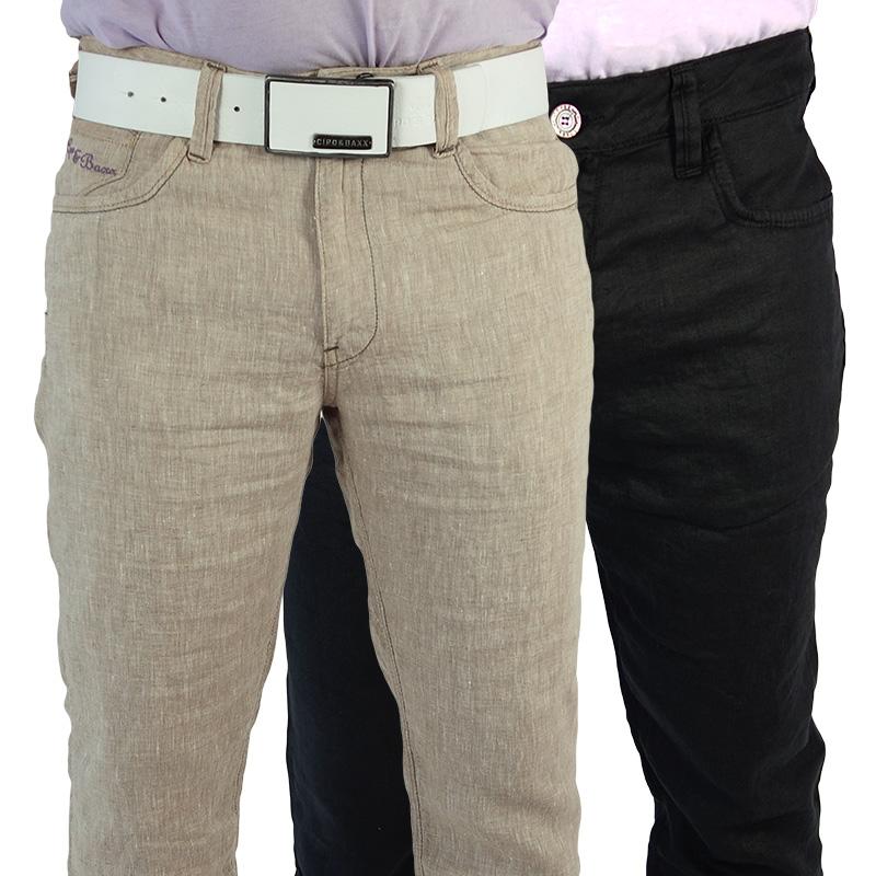 cipo baxx herren leinenhose leinen hose jeans vintage. Black Bedroom Furniture Sets. Home Design Ideas