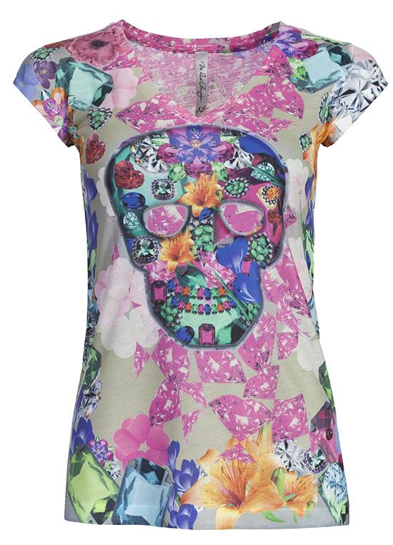 redbridge cipo baxx damen neon shirt totenkopf blumen t shirt top oberteil ebay. Black Bedroom Furniture Sets. Home Design Ideas