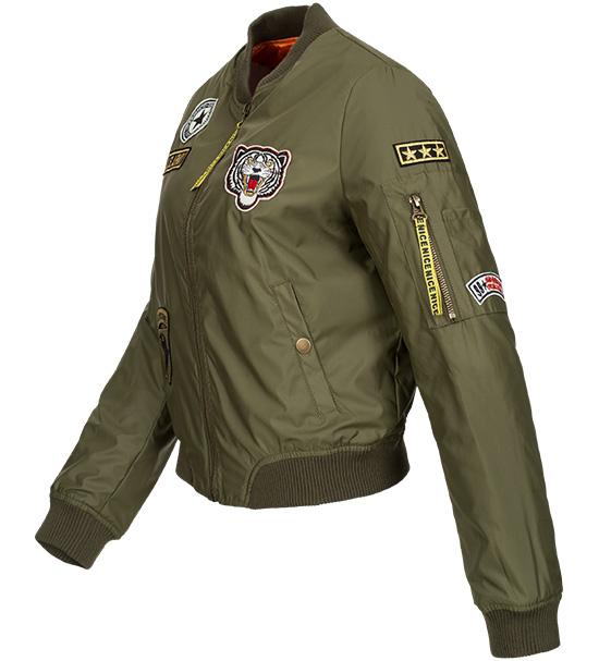 damen bomberjacke piloten flieger jacke aviator bergangsjacke army ma1 2835 ebay. Black Bedroom Furniture Sets. Home Design Ideas