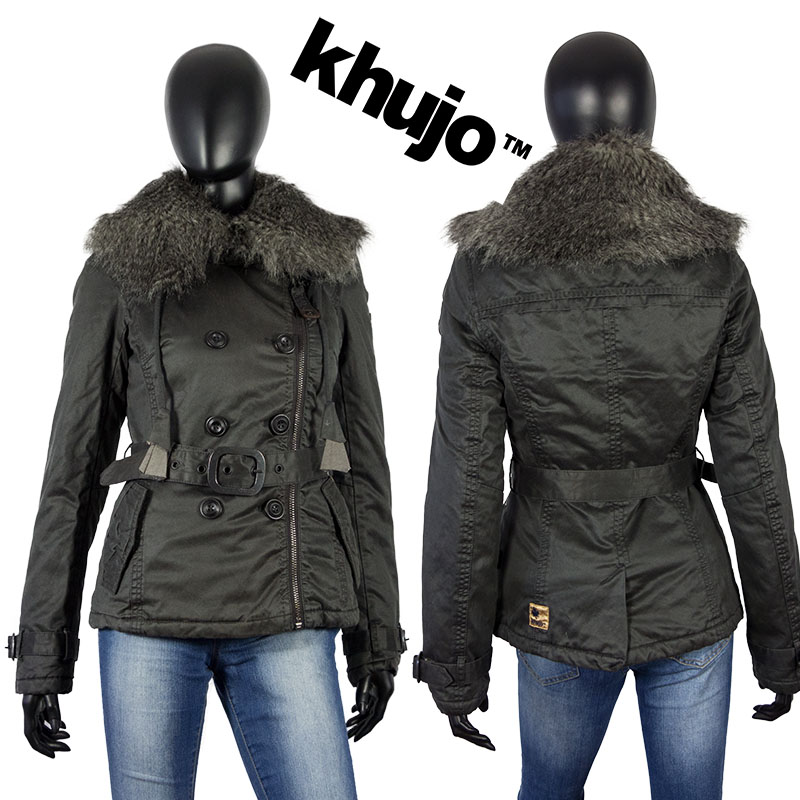 khujo damen winter mantel forte wintermantel winter jacke parka grau ebay. Black Bedroom Furniture Sets. Home Design Ideas
