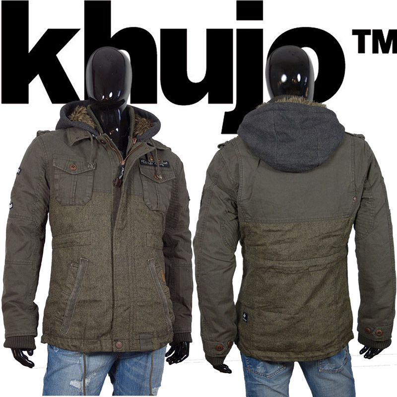 khujo franky mix herren winterjacke wintermantel winter parka jacke mantel mud ebay. Black Bedroom Furniture Sets. Home Design Ideas