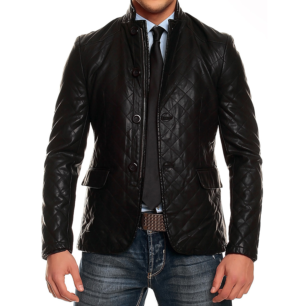 ganeder men 39 s faux leather jacket with jacket look leather. Black Bedroom Furniture Sets. Home Design Ideas