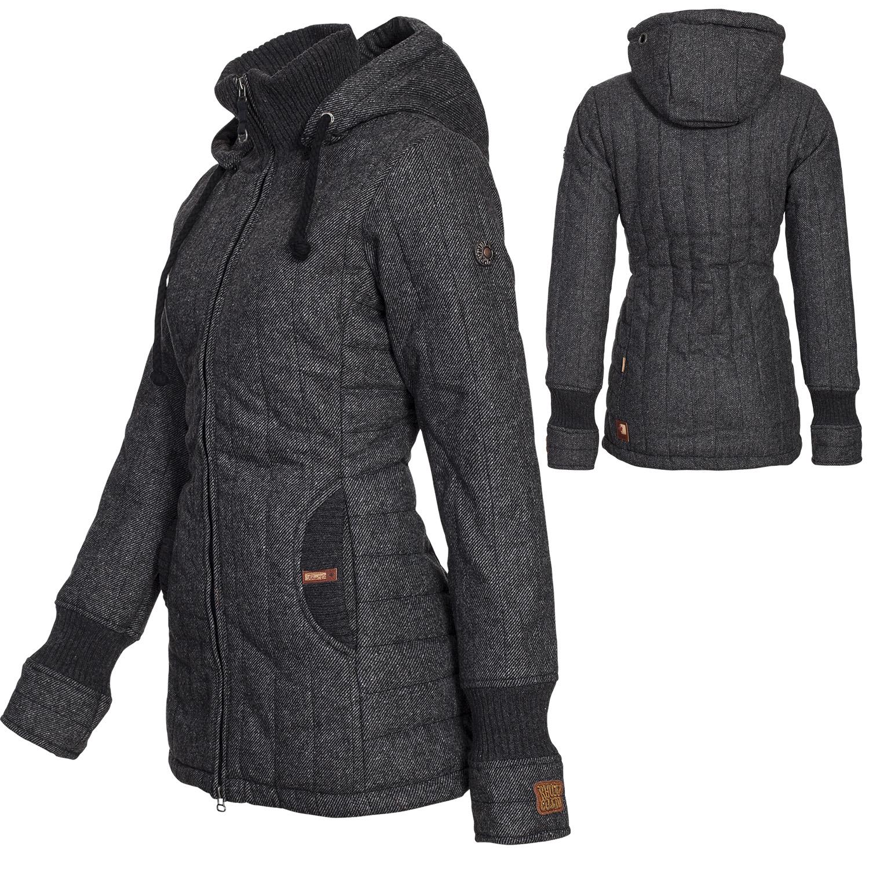 zu khujo damen winter mantel jacke retro tweety wintermantel parka. Black Bedroom Furniture Sets. Home Design Ideas