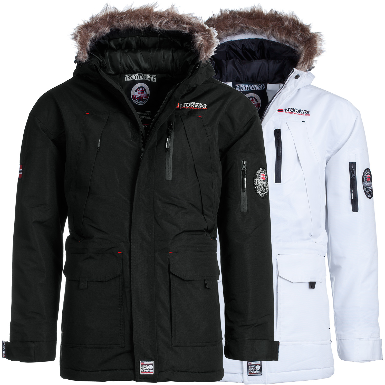 geographical norway donuts herren winterjacke winter parker jacke ski sport ebay. Black Bedroom Furniture Sets. Home Design Ideas