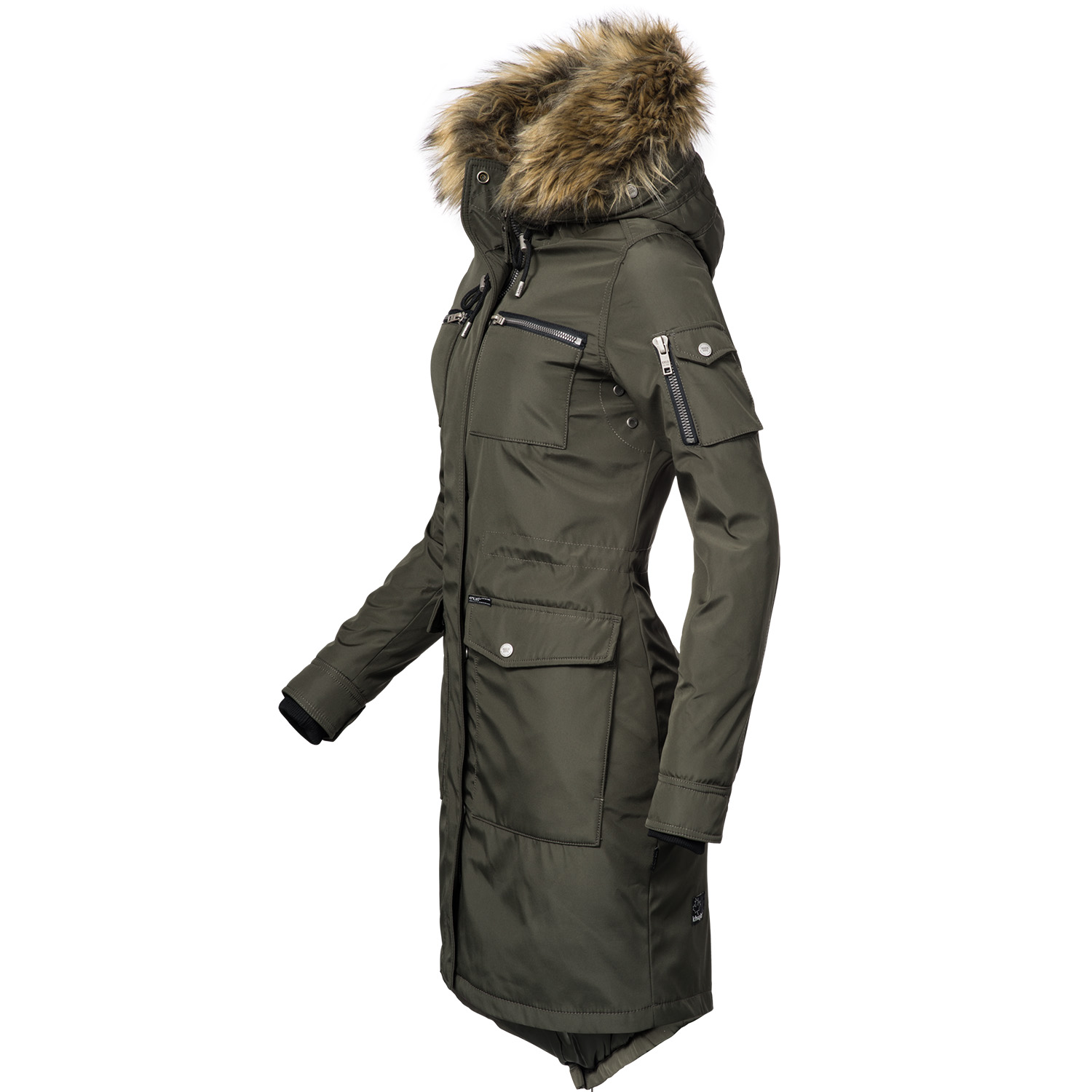 khujo balm damen winter parka mantel jacke kunstpelz kapuze gef ttert warm ebay. Black Bedroom Furniture Sets. Home Design Ideas