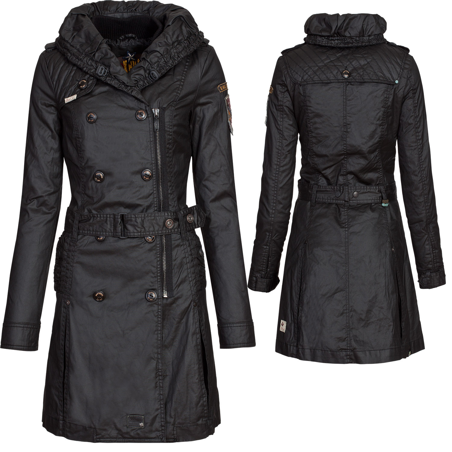 khujo damen winter mantel jacke samantha m innenjacke wintermantel winterjacke ebay. Black Bedroom Furniture Sets. Home Design Ideas