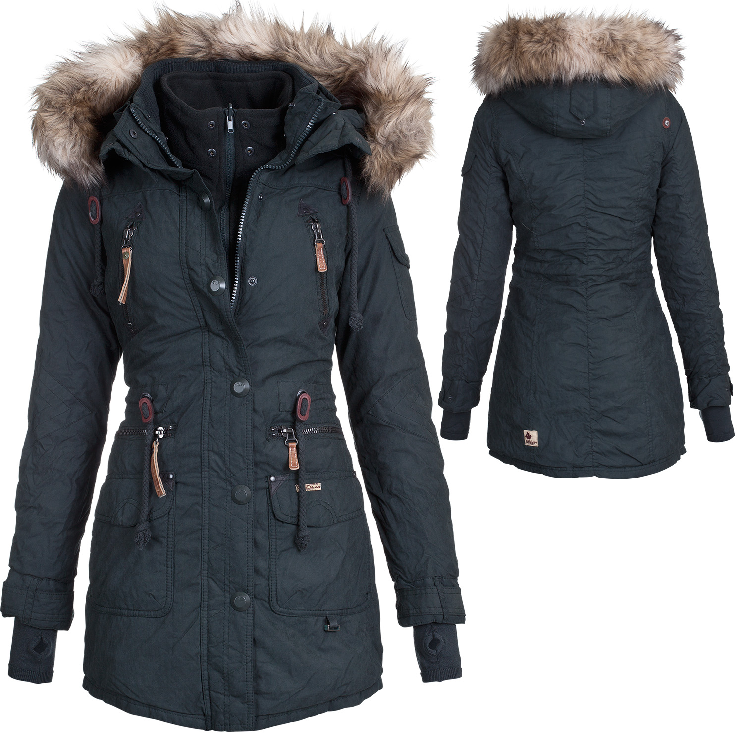 khujo damen winter mantel jacke camilla wintermantel winterjacke parka ebay. Black Bedroom Furniture Sets. Home Design Ideas