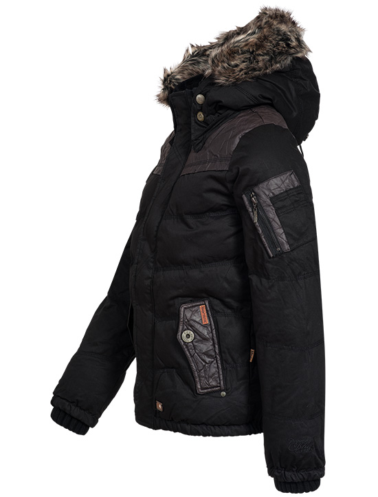 khujo herren winterjacke frankfurt wintermantel winter parka jacke schwarz braun. Black Bedroom Furniture Sets. Home Design Ideas