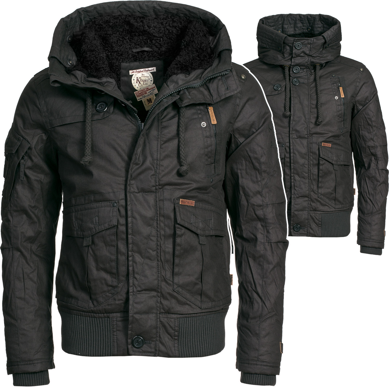 khujo zeus herren winterjacke wintermantel winter parka jacke mantel dunkel grau ebay. Black Bedroom Furniture Sets. Home Design Ideas