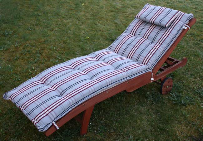 steiner roll liegen auflage 8cm kissen gartenliege sonnenliege deckchair polster ebay. Black Bedroom Furniture Sets. Home Design Ideas
