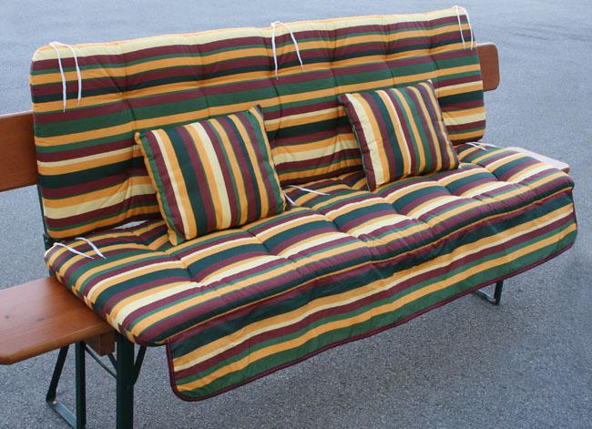 4 tl dickes steiner auflagen set f r hollywoodschaukel. Black Bedroom Furniture Sets. Home Design Ideas