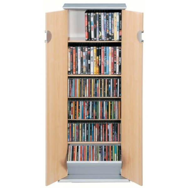 cd dvd schrank regal st nder medienregal 246 cd s 88 dvd s deja loft 216 ebay. Black Bedroom Furniture Sets. Home Design Ideas